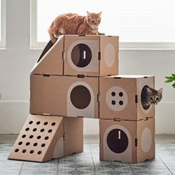 玩它千遍也不厌倦! 瓦楞纸做的趣味猫窝