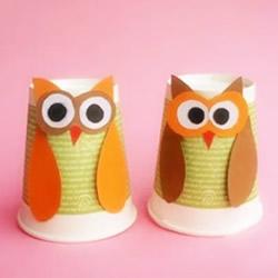 纸杯猫头鹰的简单做法 废弃纸杯子利用起来!