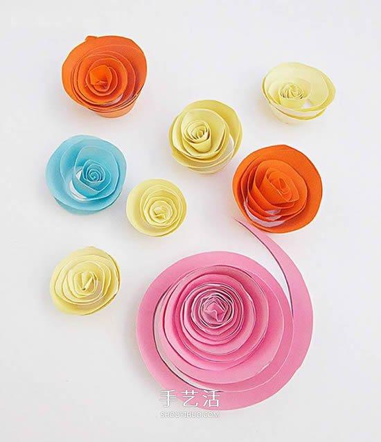 教师节纸花手工制作 卡纸做花朵的简单方法 -  www.shouyihuo.com