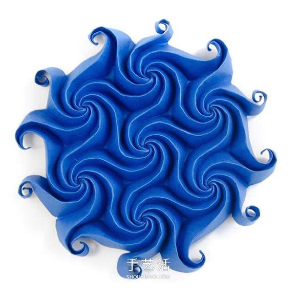 结合日本药玉与数学几何之美 立体纸球花艺术 -  www.shouyihuo.com
