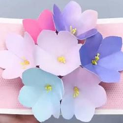 美丽的春天手工 卡纸做立体花朵贺卡的方