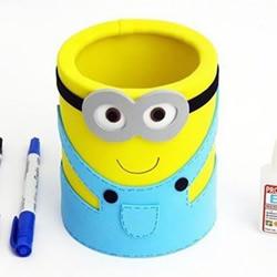 怎么做小黄人笔筒图解 奶粉罐利用做卡通笔筒