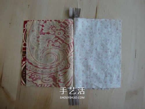 雙層拉鏈布包的做法 自製布藝拉鏈包DIY圖解