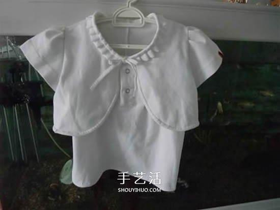 舊衣改造:男款T恤改造兒童坎肩背心套裝