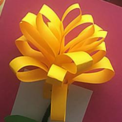 怎么做立体花朵贺卡 手工自制花朵贺卡的方法