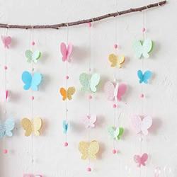 蝴蝶挂饰怎么做图解 彩纸手工制作蝴蝶装饰