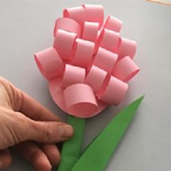 幼儿手工制作风信子 卡纸做风信子花的教程