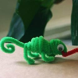 幼儿园手工制作变色龙 扭扭棒做变色龙的方法