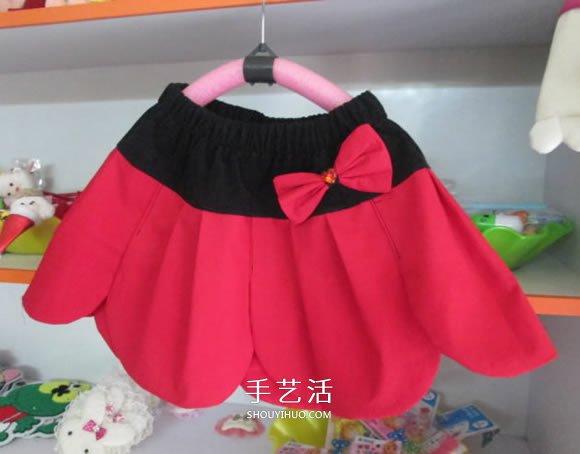 自製花瓣裙的方法圖解 手工兒童花瓣裙的做法