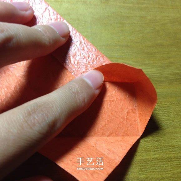 愛心戒指的折法圖解 怎麼折心形戒指的教程