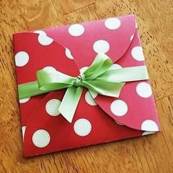 适合放丝巾的扁形礼品盒做法 折起来很简单!