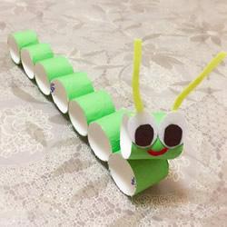卫生纸卷纸筒做毛毛虫 简单又可爱的幼儿手工