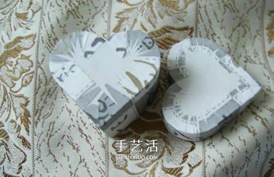 簡單又好看的愛心禮品盒手工製作方法圖解