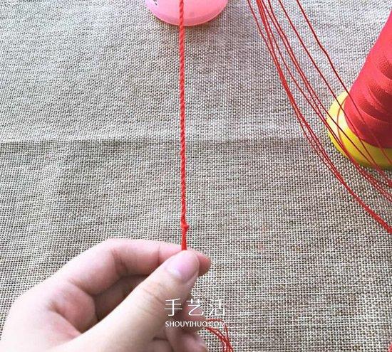 三生繩手鏈編法圖解 怎麼用紅繩編三生手鏈