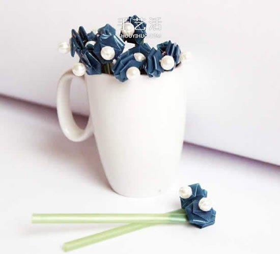 吸管編花的圖解教程 插入花瓶做成漂亮插花
