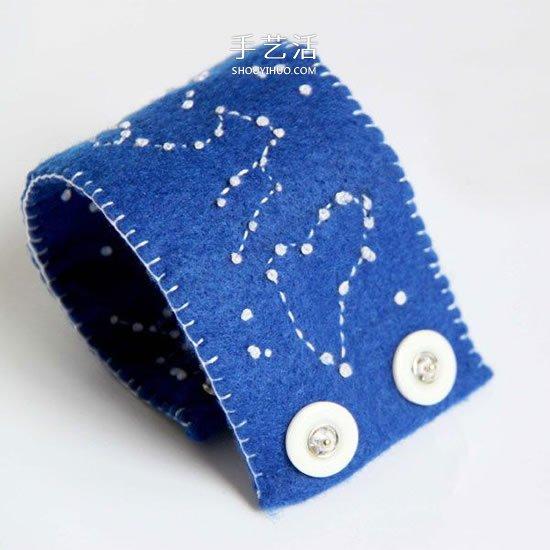 最愛美麗的星空!手工布藝星空腕帶的做法