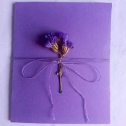 最爱紫色系!七夕情人节贺卡的制作方法图解