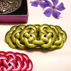 五色祥云发饰的编法 三种颜色搭配出渐变色