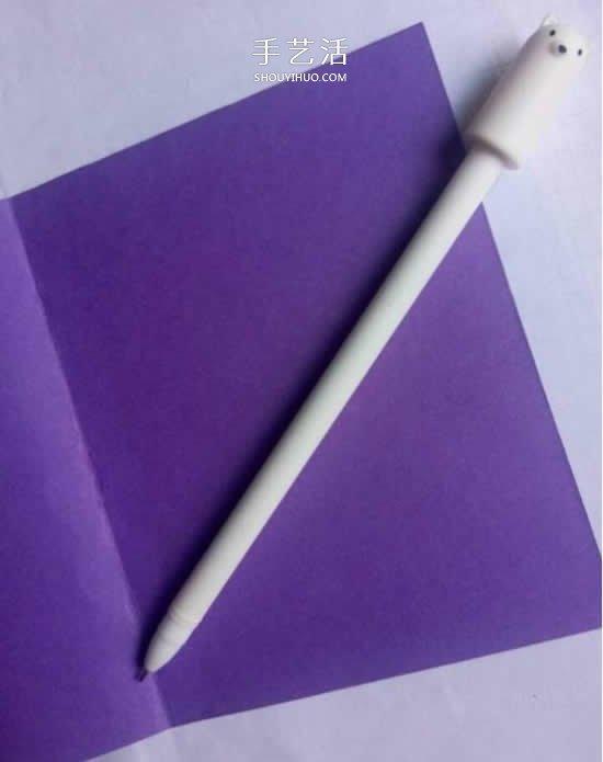 最爱紫色系!七夕情人节贺卡的制作方法图解 -  www.shouyihuo.com