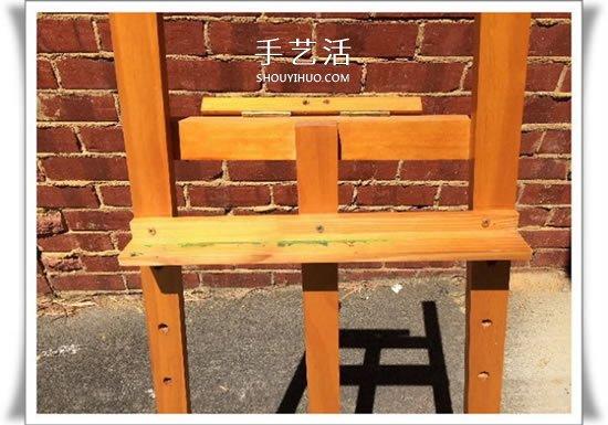 不要的画架废物利用 DIY改造电视架的方法 -  www.shouyihuo.com