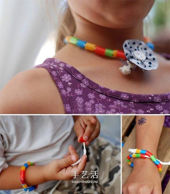 絢麗的頸間彩虹!吸管手工製作美麗項鏈的方法