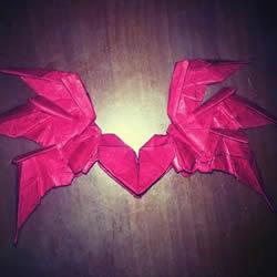 六翼炽天使之心的折纸方法图解 超多详细步骤!