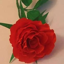 皱纹纸做花:漂亮纸玫瑰花的制作方法图解