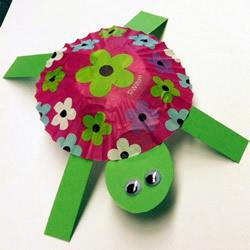 简单又可爱的幼儿园小手工 用蛋糕纸做小乌龟