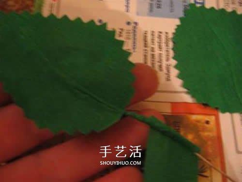 皺紋紙做花:漂亮紙玫瑰花的製作方法圖解