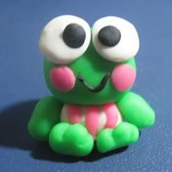 做一只可爱的豆糕蛙 橡皮泥制作小青蛙图解