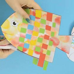 纸编小鱼的详细教程 彩纸做小鱼的创意方
