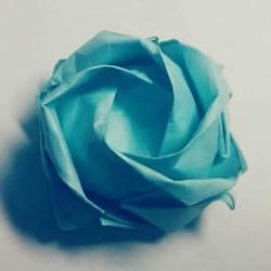 一步一步教你折!详细川崎玫瑰折纸过程图解