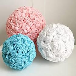 皱纹纸做玫瑰花球的方法 唯美的婚庆装饰物!
