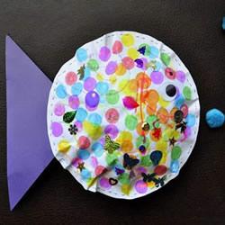 简单胖胖鱼手工制作 幼儿做立体纸鱼的教程