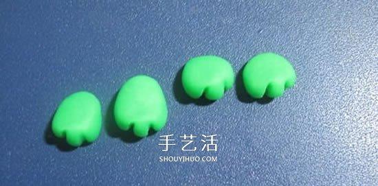 做一隻可愛的豆糕蛙 橡皮泥製作小青蛙圖解
