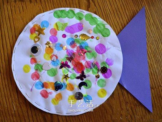 簡單胖胖魚手工製作 幼兒做立體紙魚的教程