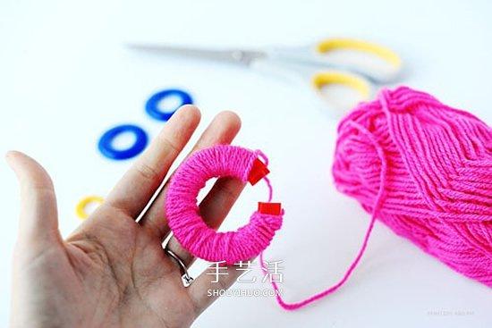 情人节包装装饰自己做!DIY温暖毛线球的做法 -  www.shouyihuo.com