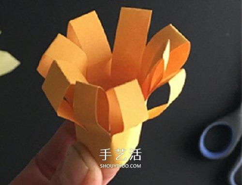 手工卡纸花的做法图解 幼儿制作立体花朵教程 -  www.shouyihuo.com