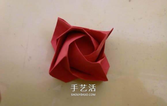 LS玫瑰花的折法图解 手工怎么折LS玫瑰步骤 -  www.shouyihuo.com