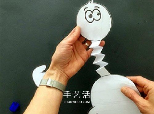 幼儿手工鸵鸟的制作方法 简单卡纸做卡通鸵鸟 -  www.shouyihuo.com