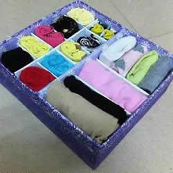 自制内衣收纳盒的做法 简单的鞋盒废物利用DIY