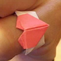 情人节心形戒指怎么折 简单易学爱心戒指折法