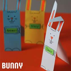 卡通兔子书签怎么做 幼儿用卡纸制作卡通书签