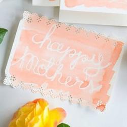 自制母亲节手绘卡片 唯美手绘水彩卡片的做法