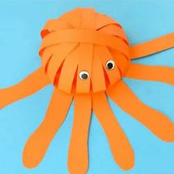 幼儿园手工章鱼的制作 简单卡纸章鱼怎么做