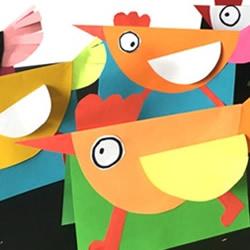 生日贺卡怎么做最好看 简单小鸡卡通贺卡制作