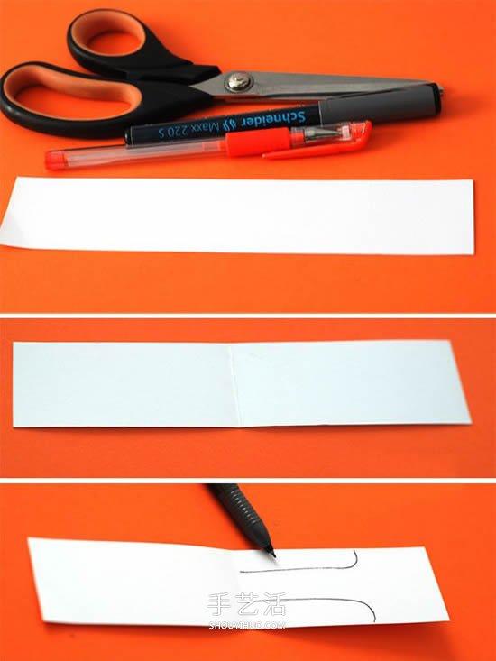 卡通兔子书签怎么做 幼儿用卡纸制作卡通书签 -  www.shouyihuo.com