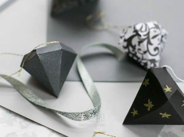 卡纸手工制作立体钻石 变成情人节表白饰物 -  www.shouyihuo.com