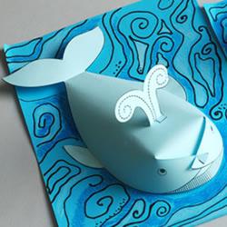 立体鲸鱼的简单做法 儿童用纸制作鲸鱼的教程