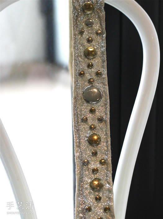 普通髮帶的改造方法 DIY時尚閃亮的漂亮頭帶